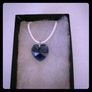 Jewelry - Shadow Blue Crystal Heart Necklace